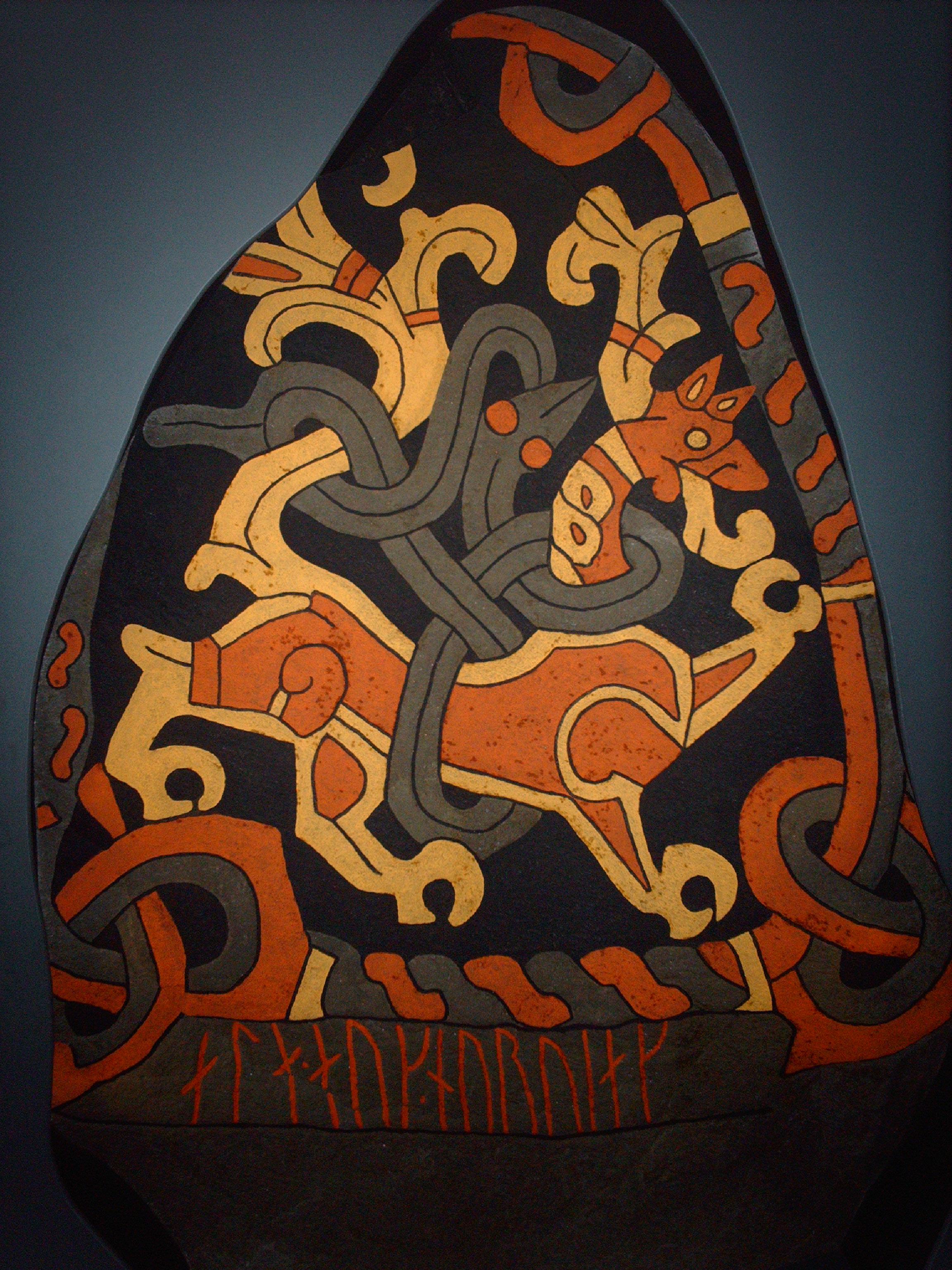Recreación de la runa con sus colores originales